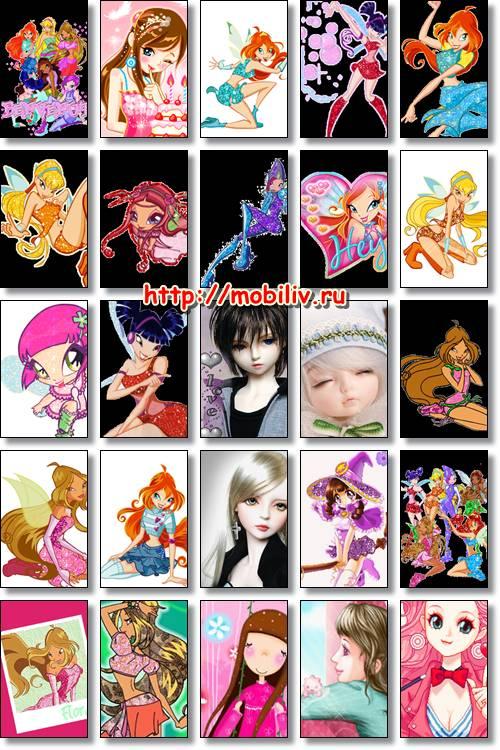 картинки 240 320 аниме: